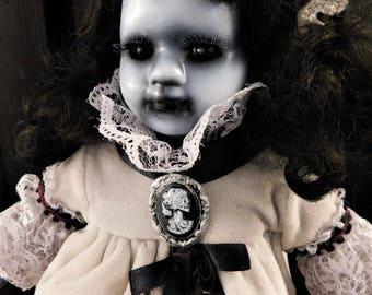 """Myra 12"""" OOAK Porcelain Horror Doll"""