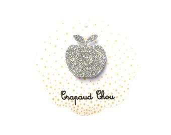 Ring Apple silver glitters