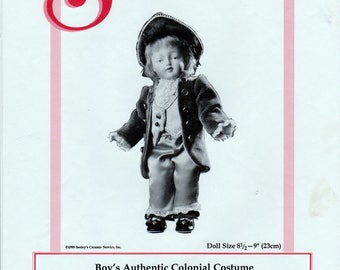 Seeley's Dollmaker's Pattern No. CP9004 - Boy's Authentic Colonial Costume