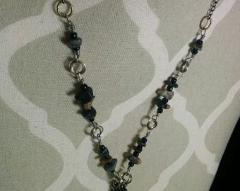 Crocodile Jasper Wire Wrapped Necklace