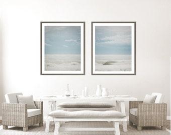 Ocean Photography Set of 2 prints, Ocean print set, wall art, Ocean photo, beach decor,  breaking waves water, sea, beach decor, florida