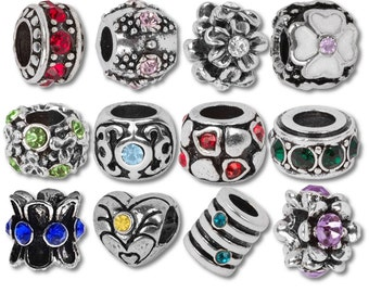 Timeline Treasures Timeline Trinketts Birthstone Beads and Charms for European Charm Bracelets