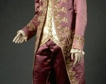 18th Century, Outlander, Versailles, Men's French Court FROCK and WAISTCOAT (Trousers Not Included)  Lay Away Available