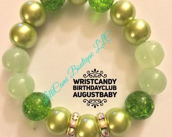 Birthday/August/Bracelet/Peridot
