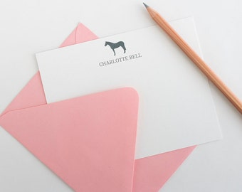 Personalized Stationery  Note Cards | Equestrian Note Cards | Horse Stationery | Equestrian Stationery | Horse Note Card Set