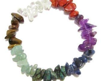 Baroque bracelet 7 chakras