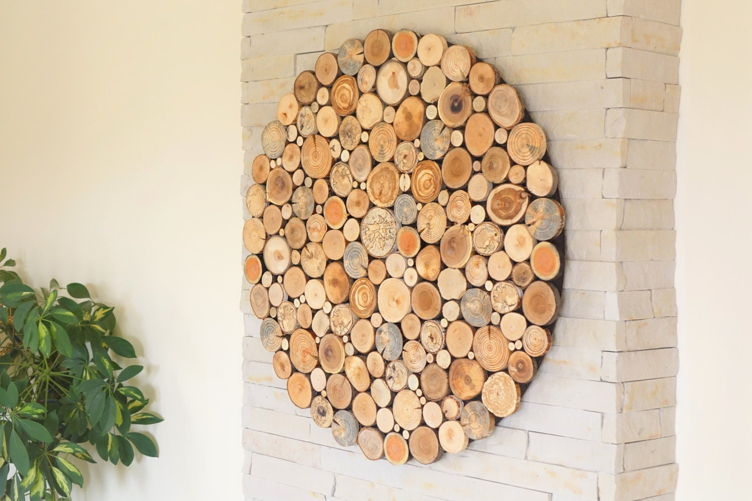 modern wall wood art round wooden wall wooden decor tree. Black Bedroom Furniture Sets. Home Design Ideas