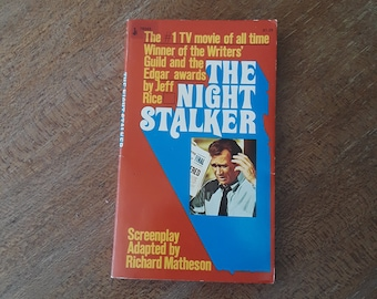 THE NIGHT STALKER by Jeff Rice (1974) Horror paperback, vampires