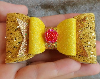 Princess Belle inspired bow