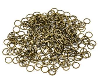 100 (6g) - 6mm Antique Bronze Jump Rings