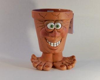 Face Pot - People Pots - Our Family Crafts - Unique Gift Ideas - Face Planter