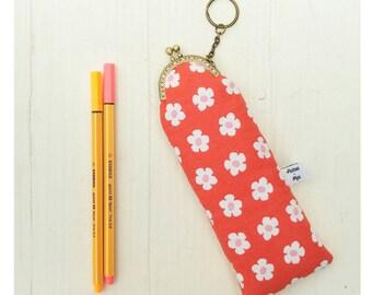 Pen case. Vintage purse with snap closure, pencil holder