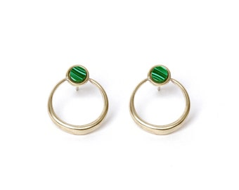 Shu Stud Earrings - Brass