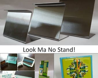 Look Ma No Stand! Fused Glass Slumping forms for clocks and more! Mini Narrow Large 8x4x2.5