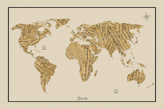 World map sheet music map world map map of the world world world map sheet music map world map map of the world world map poster large world map world map print world map art map art gumiabroncs Image collections