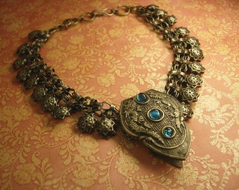 ANtique Chinese dragon Necklace Chinese dragon dress clip and necklace