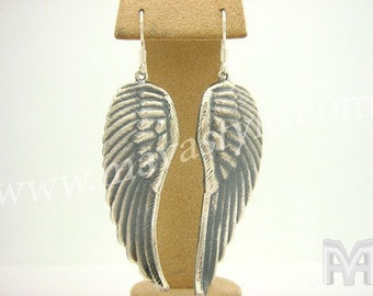 925 Sterling Silver Angel Wings Wing Earrings Jewelry