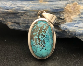 gold turquoise sterling set in pendant silver products royston and mine