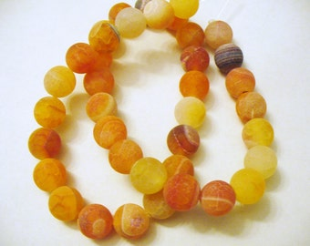 Fire Agate Beads Gemstone Round 10mm