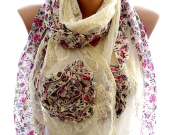 lace edge scarf, scarves,  lace scarf,scarves for women, soft scarf, cozy scarf, trendy scarf
