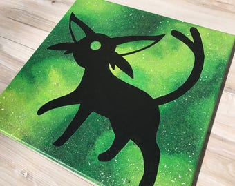 """""""Shiny Espeon"""" - Painted Canvas Inspired by Pokemon"""