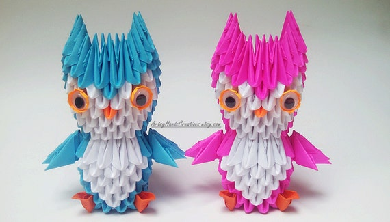 Items Similar To 3d Origami Miniature Owl Mini Bird Paper Small On Etsy