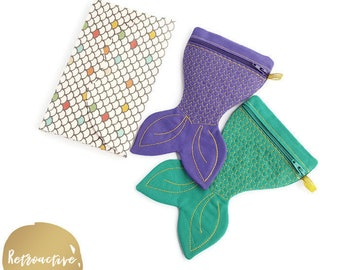 Mermaid Tail Zipper Pouch - Mermaid Coin Purse - Party Favour Purse - Made to Order Zipper Pouch - Mermaid Purse - Mermaid Tail Keyring