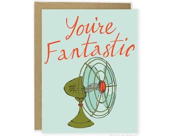 You're Fantastic Card, Pun Card, Funny Love Card, Punny Anniversary Card, Friend Card, Boyfriend Card, Girlfriend, Husband Card, Wife Card