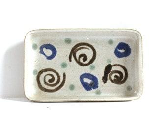 Vintage Martz Marshall Studios Mid-Century Pottery Dish Tray