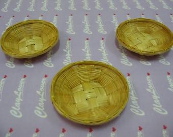 Miniature Bamboo Fruit Tray