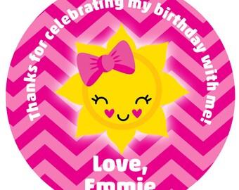 Sunshine Sticker  Sunshine Birthday Party Sticker