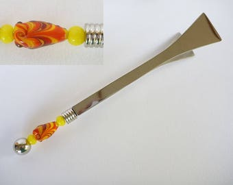 Serving Tongs featuring lampwork glass beads, Hostess gift, weddings, engagements, house warming, bar,