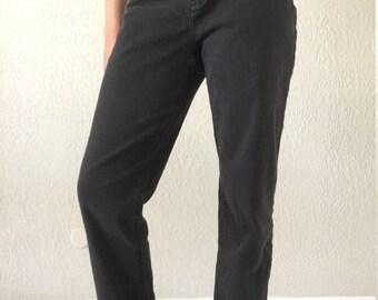 90s Ralph Lauren Jeans, High Waisted Size 26, Vintage Jeans, Black Jeans
