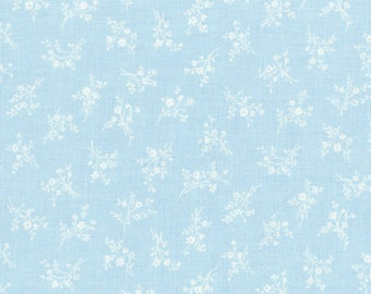 RJR Fabrics - Afternoon in the Attic - Cameo Blossom Bluebell by RJR Studio