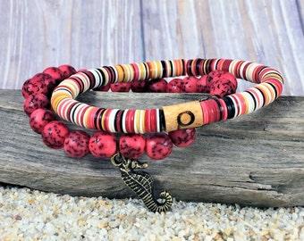 Stretch Bracelet Set, Stack Bracelet Set, Boho Bracelet Set, Summer Stacking Bracelets, Boho Stretch Bracelets, Beachy Stacking Bracelets