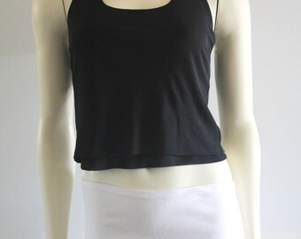 90's Vintage Laundry by Shelli Segal Formal 2 Layer Halter Crop Top