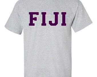 FIJI T, FIJI Shirt, Fiji Tshirt, Phi Gamma Delta Shirt, Fiji letters, greek letters, fraternity shirt, fraternity t, Phi Gamma,greek apparel