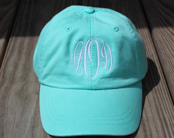 Monogrammed Hat Set of 4 Baseball Cap, Bridesmaid Gift, Groomsman Gift, Personalized, Monogrammed