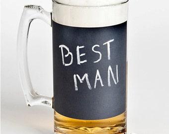 Groomsmen gift, Best man Gift, Best man, Chalk board wedding, Chalkboard Mug, Groomsmen gift, Groomsman Gift, Bestman gift, Father of,