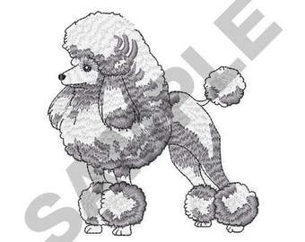 Poodle - Machine Embroidery Design