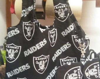 Raiders bag with cell phone case