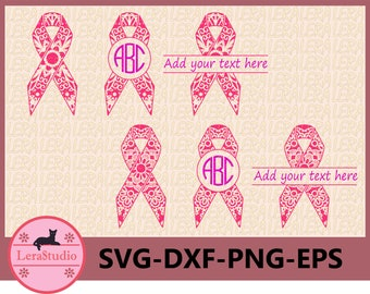 60 % OFF, Cancer Ribbon Mandala svg, Ribbon Svg, Cancer Survivor, Ribbon svg, dxf, ai, eps, png, for Silhouette Cameo, Silhouette Files