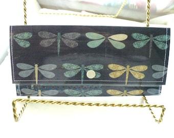 Dragonfly Travel Wallet, Slim Wallet, Womens Wallet, Minimalist Wallet, Snap Wallet, Teacher Gift, Cash Envelope Wallet, Envelope Wallet
