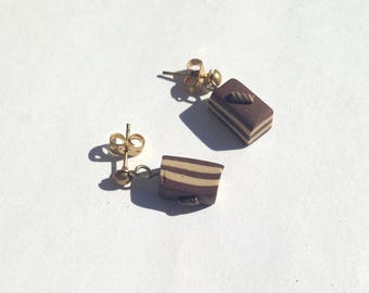 "Cake slice earrings ""negresco"""