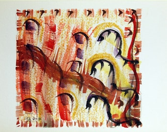 FREE SHIPPING. Watercolor dreams number 8