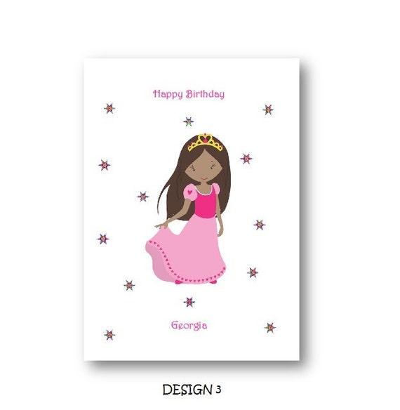 Personalised princess girl birthday card personalized personalised princess girl birthday card personalized princess girl birthday card african american girls card daughter niece grandaudhter bookmarktalkfo Choice Image