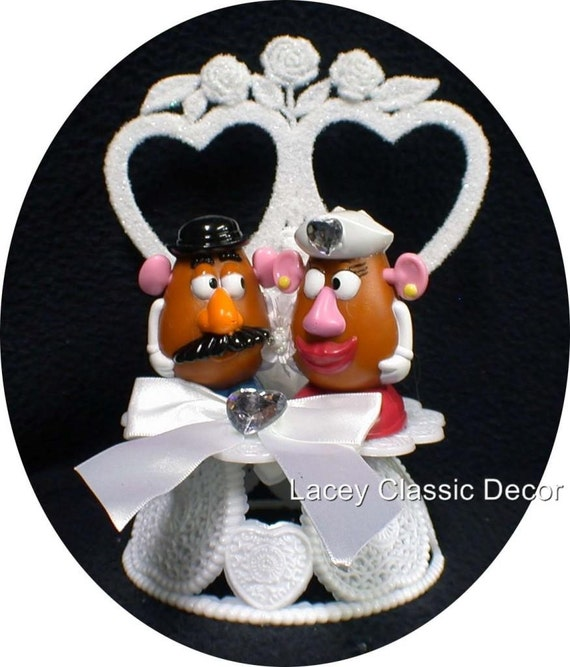 Mr And Mrs Potato Head Cake Topper