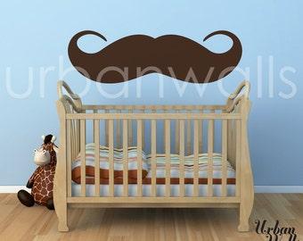 Vinyl Wall Sticker Decal Art - The Moustache vs. Mustache