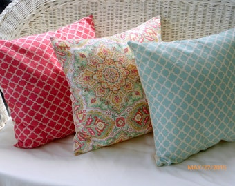 Pillow Covers - Waverly Inspirations collection - Decorative throw pillow cover - Designer fabric covers - pillow - accent pillow cover