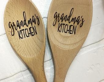 Personalized Wooden Spoon, Wooden Spoon, Custom Wood Spoon, Engraved Spoon, Housewarming Gift, Anniversary, Serving Spoon, Wedding gift